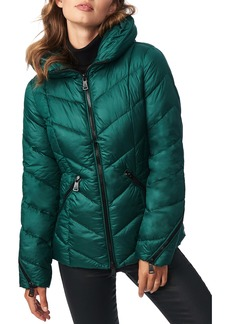 Bernardo Water Resistant Hooded Puffer Coat