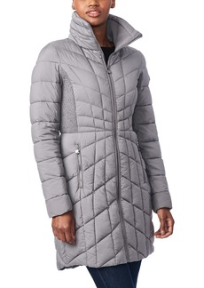 Bernardo Water Resistant Packable EcoPlume™ Puffer Coat