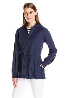 Bernardo Women's Anorak Jacket with Ruffle Back  L