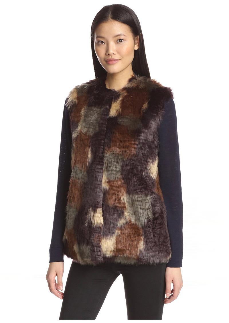 Bernardo Women's Faux Fur Vest  L