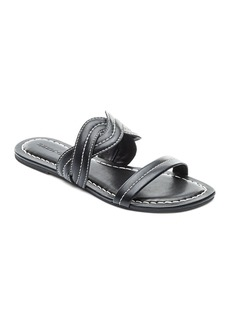 Bernardo Women's Leather Double Strap Slide Sandals