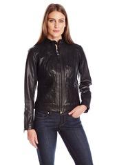 Bernardo Women's Leather Scuba Jacket  XL