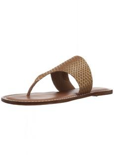 Bernardo Women's Monica Flat Sandal Luggage Suede/Gold foil M M US