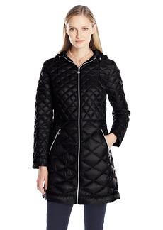 Bernardo Women's Multi Quilted Down Walker Coat  XS
