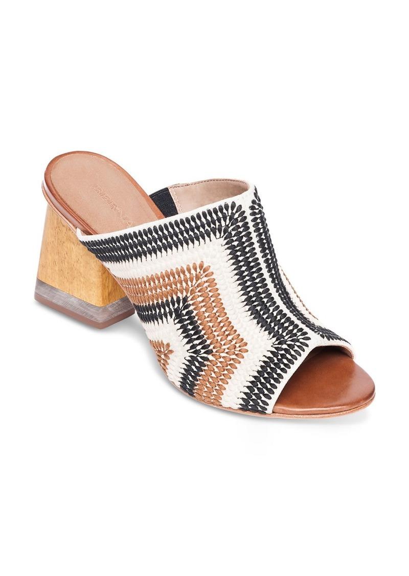 Bernardo Women's Nala Embroidered Block Heel Mules