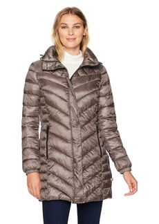 Bernardo Women's Quilted Primaloft Walker Long Coat  L