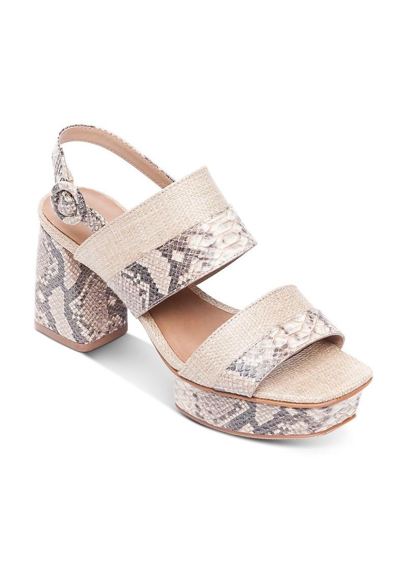Bernardo Women's Racquel Snake-Print Platform Sandals