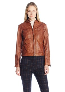 Bernardo Women's Sheep Kerwin Leather Jacket  L
