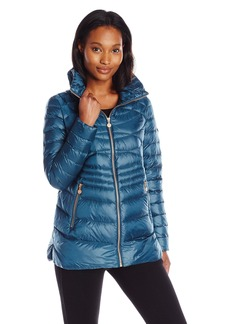 Bernardo Women's Short Packable Goose Down Water Repellent Coat