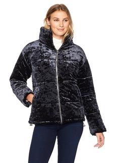 Bernardo Women's Velvet Puffer Jacket  S