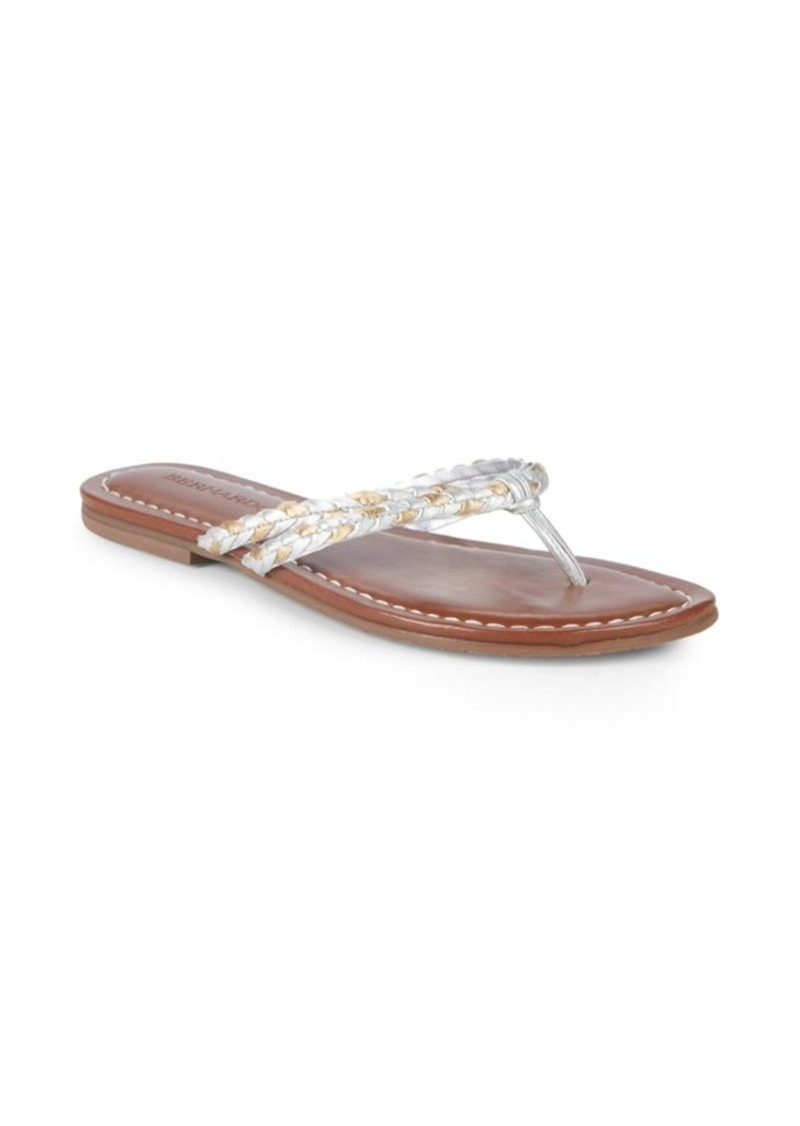 6bcce6a70a2 Bernardo Double-Strap Leather Thong Sandals