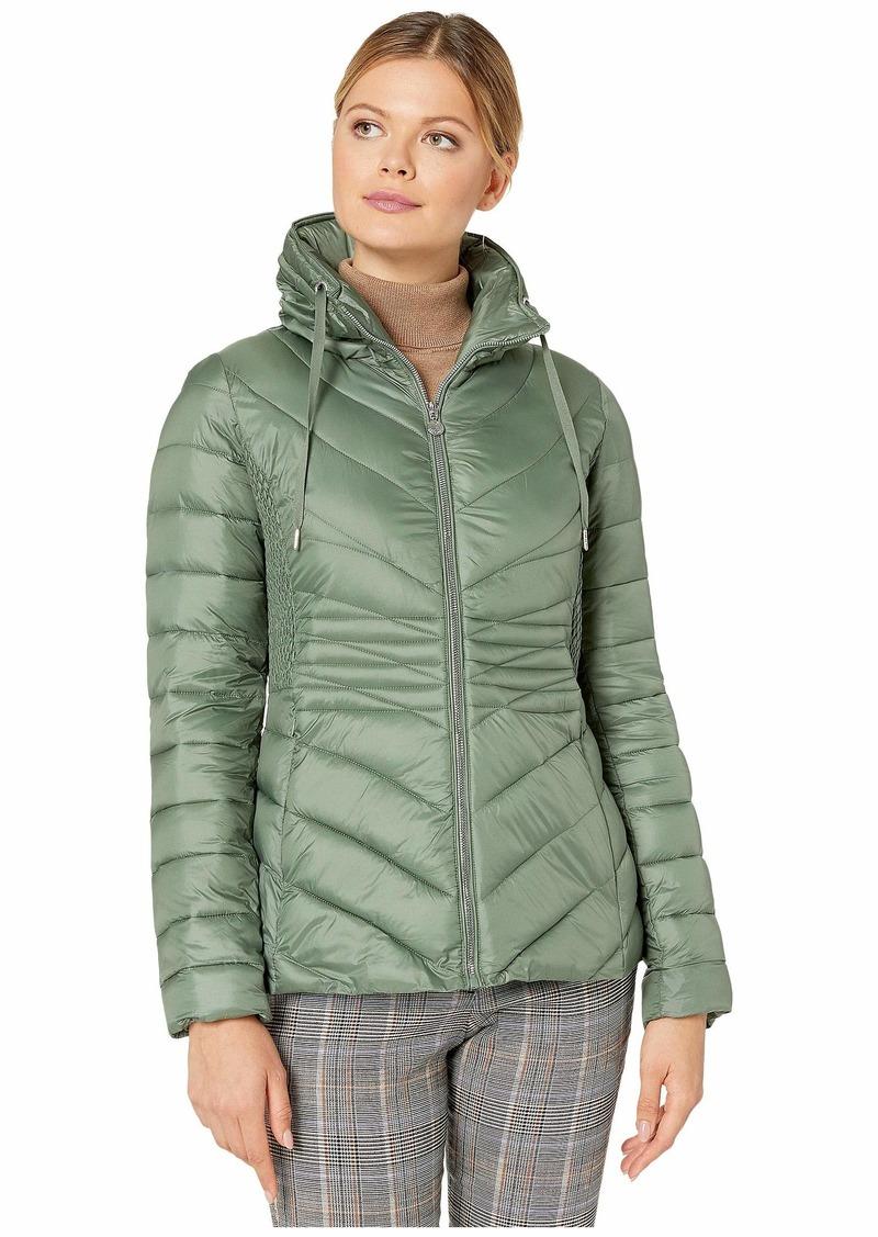 Bernardo EcoPlume Packable Chevron Puffer Jacket