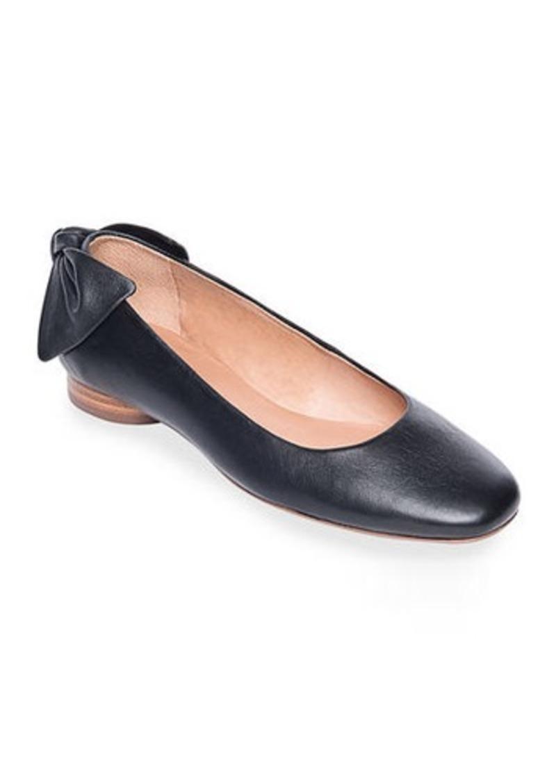 Bernardo Eloise Leather Bow Ballet Flats
