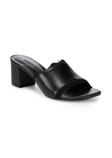 Bernardo Fringe Leather Sandals