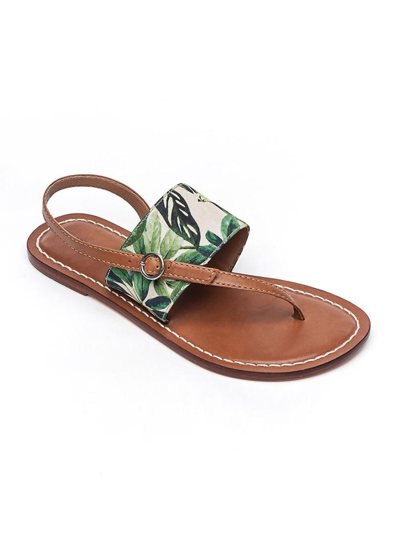Bernardo Meg Leather Flat Sandals  Palm