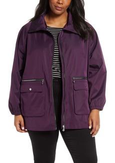 Bernardo Short Water Resistant Rain Jacket (Plus Size)