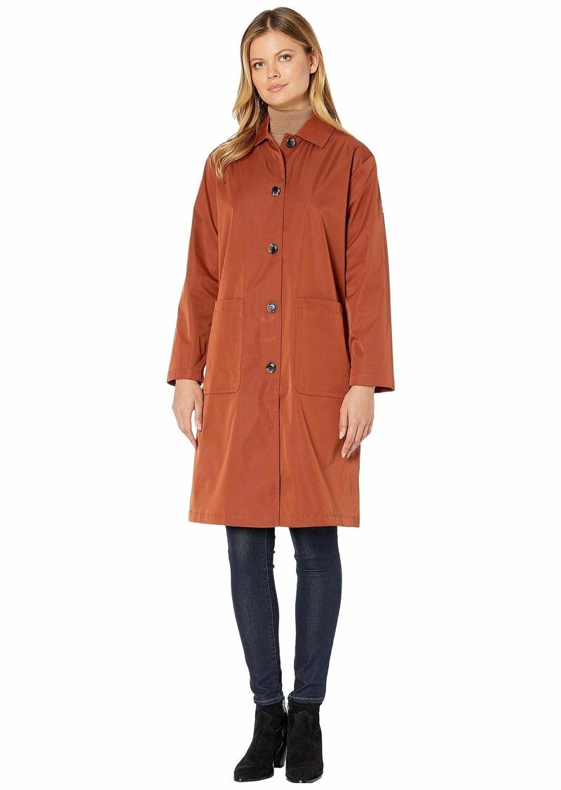Bernardo Fashions Long Hooded Raincoat Dark Navy XL