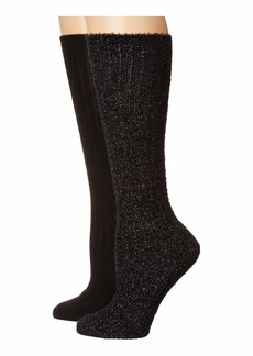 Betsey Johnson 2-Pack Slouchy Feather Boot Socks