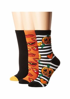 Betsey Johnson 3-Pack Halloween Crew Socks