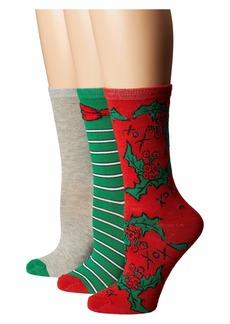 Betsey Johnson 3-Pack Holiday Crew Socks Gift Box