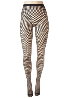 Betsey Johnson 1-Pack Big Dot Openwork Tights
