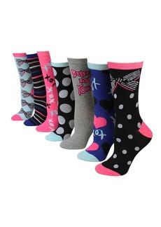 BETSEY JOHNSON 7-Piece Printed Mid-Calf Socks