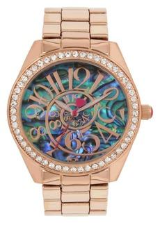 Betsey Johnson Abalone Optical Swirl Dial Bracelet Watch