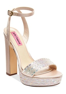 Betsey Johnson Alliie Platform Evening Sandals Women's Shoes