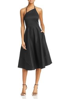 Betsey Johnson Asymmetric Halter Dress