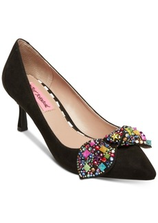 Betsey Johnson Axle Kitten-Heel Pumps Women's Shoes