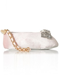 Betsey Johnson Ballet Slipper Kitch Wristlet Clutch pink