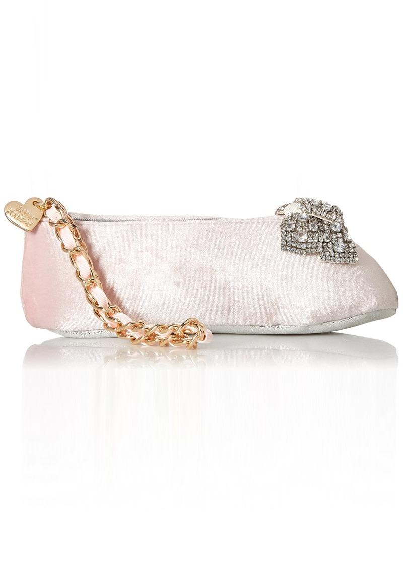 Betsey Johnson Ballet Slipper Kitch Wristlet Clutch pink