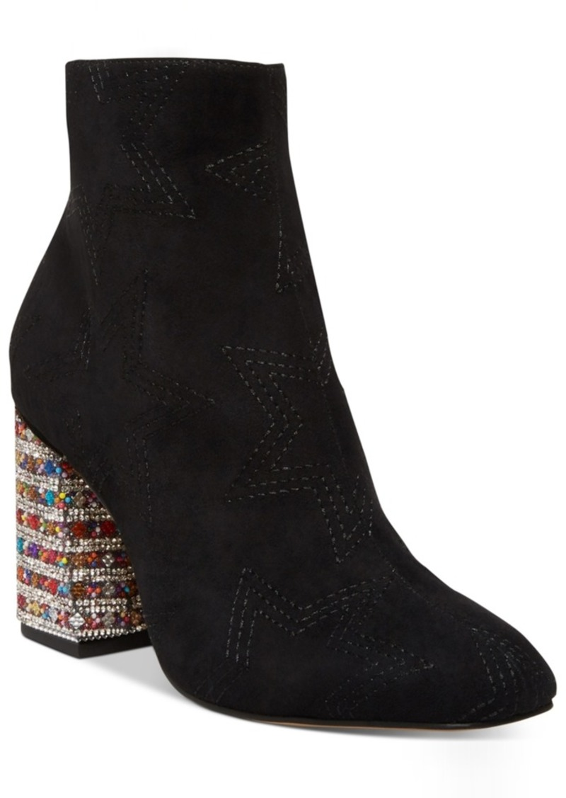 Betsey Johnson Barette Embellished Booties Women's Shoes