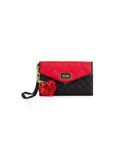 Betsey Johnson Be Mine Quilted Flap Wallet