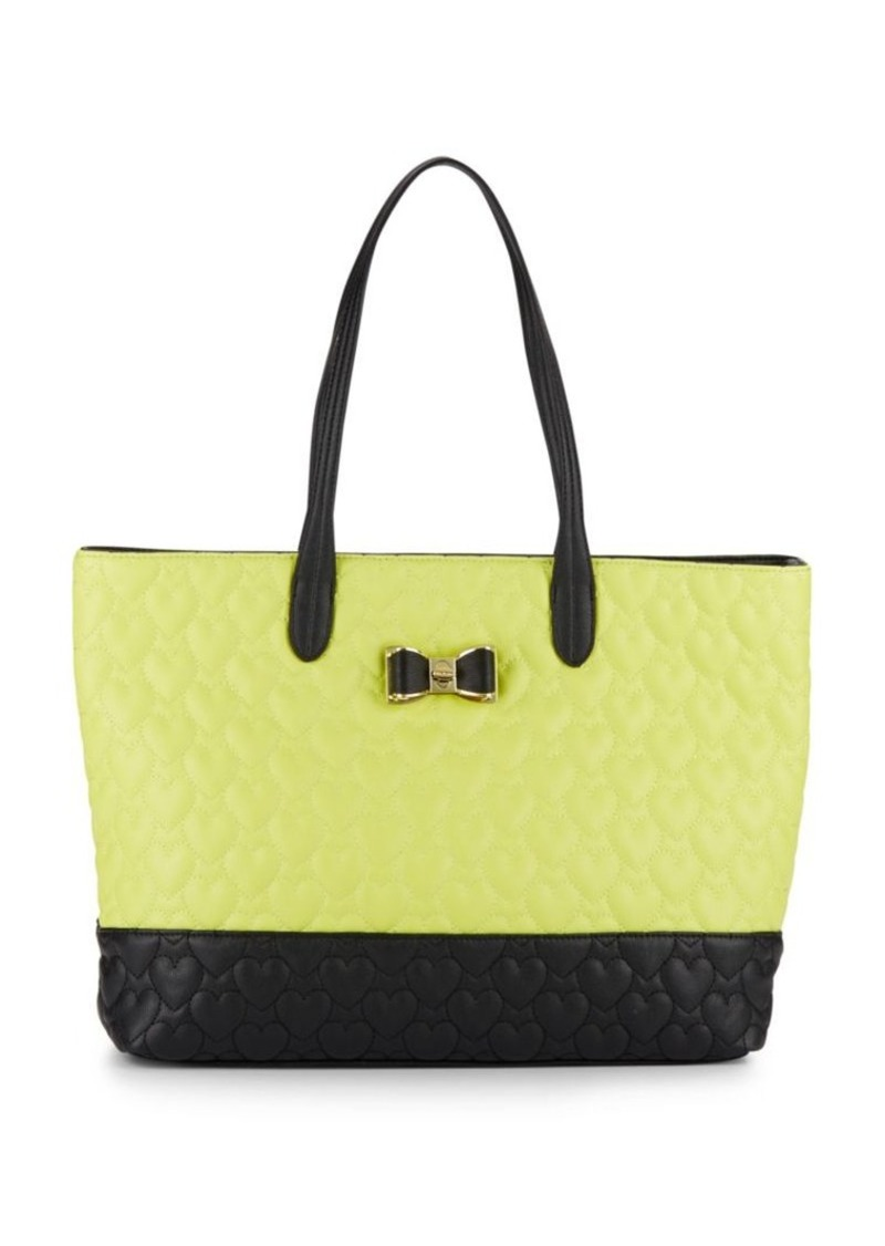 Betsey Johnson Be My Bow Colorblock Tote