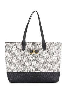Betsey Johnson Be My Bow Spotted Tote
