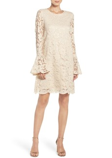Betsey Johnson Bell Sleeve Lace Shift Dress