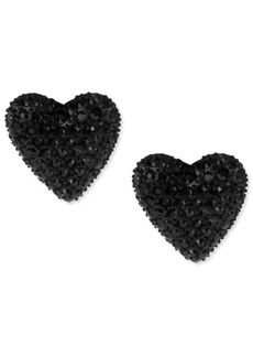 Betsey Johnson Black Heart Stud Earrings