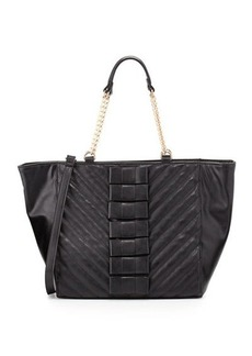 Betsey Johnson Black Tie Affair Quilted Bow Tote Bag