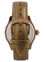 Betsey Johnson 'Bling Bling Time' Owl Dial Watch, 40mm