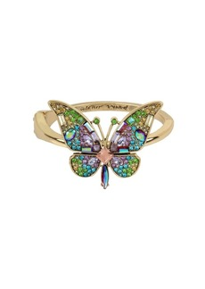 Betsey Johnson Blooming Crystal Butterfly Statement Bracelet