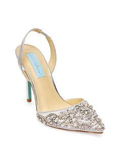 Betsey Johnson Blue by Betsey Johnson Embellished Pointed Sandals