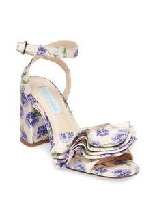 Betsey Johnson Blue By Betsey Johnson Flirt Floral-Print Sandals
