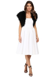 Betsey Johnson Blue By Betsey Promise Marabou Shrug