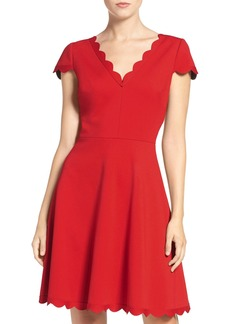 Betsey Johnson Bonded Knit Skater Dress