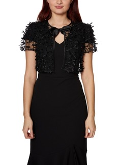 Betsey Johnson Bow Applique Mesh Shrug
