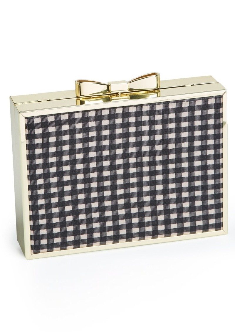 Betsey Johnson Bow Lock Frame Clutch