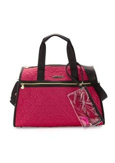 Betsey Johnson Bow Quilted Weekender Bag