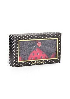 Betsey Johnson Boxed Bow Double Zip-Around Wallet