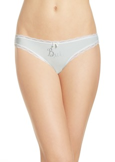 Betsey Johnson Bridal Thong